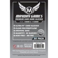 Mayday 7144 - Premium Magnum Silver Card Sleeves (Pack of 50) - 70 X 110 MM