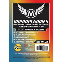Mayday 7132 - Standard Race! Formula 90 Card Sleeves (Pack of 100) - 55 X 80MM