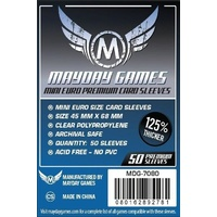 Mayday - Premium Mini Euro Card Sleeves (Pack of 50) - 45 MM X 68 MM (Dark Blue) 7080